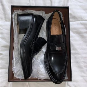 Heath box calf black coach shoes